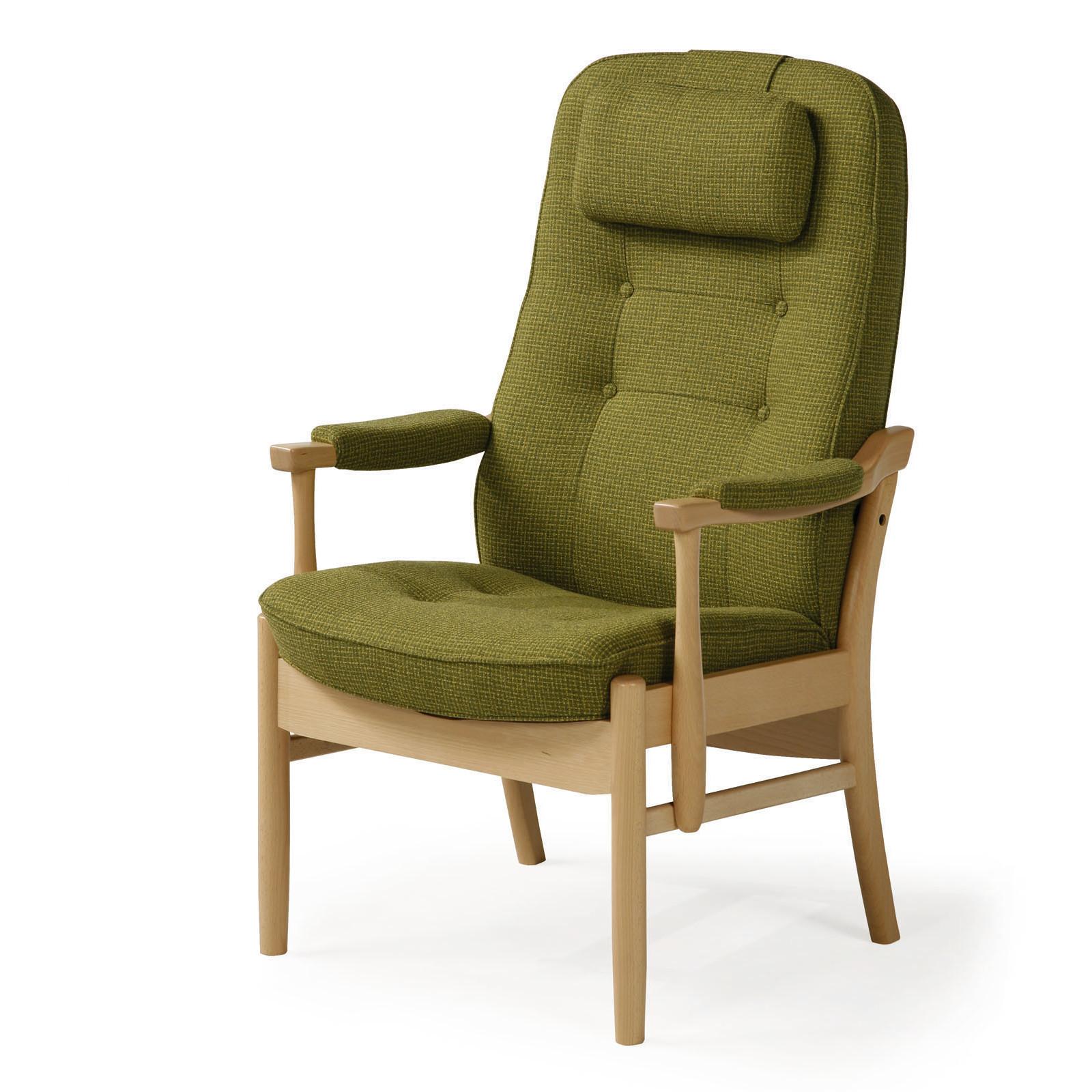Seniorenstoel farstrup casa comfort op maat zweeds design - Stoel met armleuningen senior ...